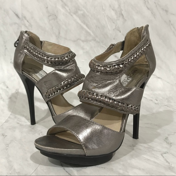 Michael Kors - Michael Kors Metallic Silver High Heel Sandals from ...